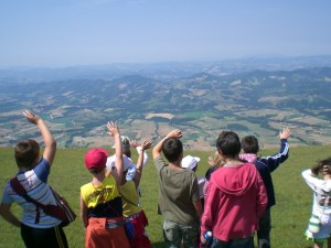 trekking at summer camp in Italy